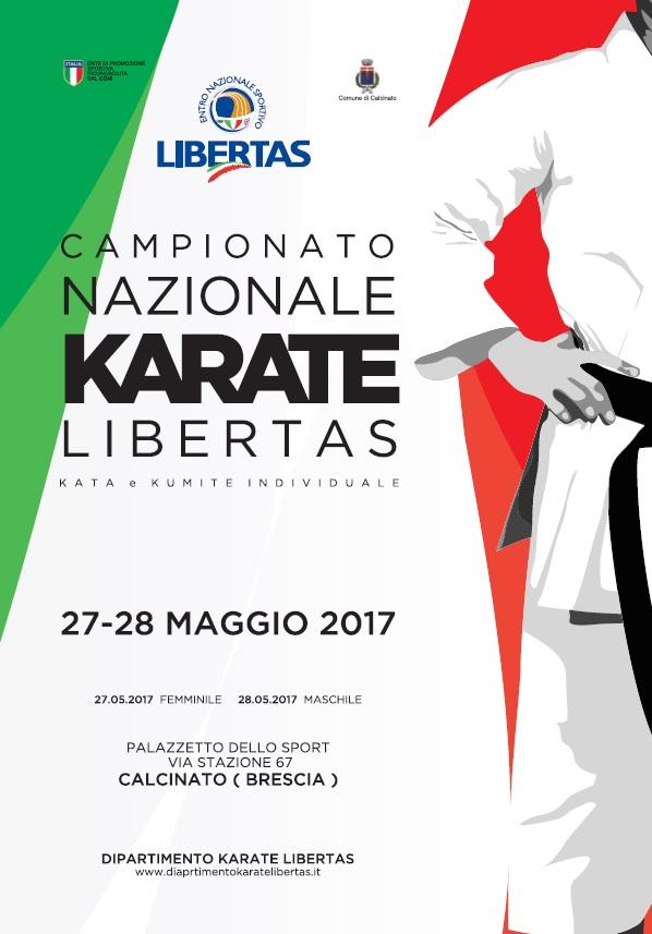 Locandina campionato nazionale Karate 2017