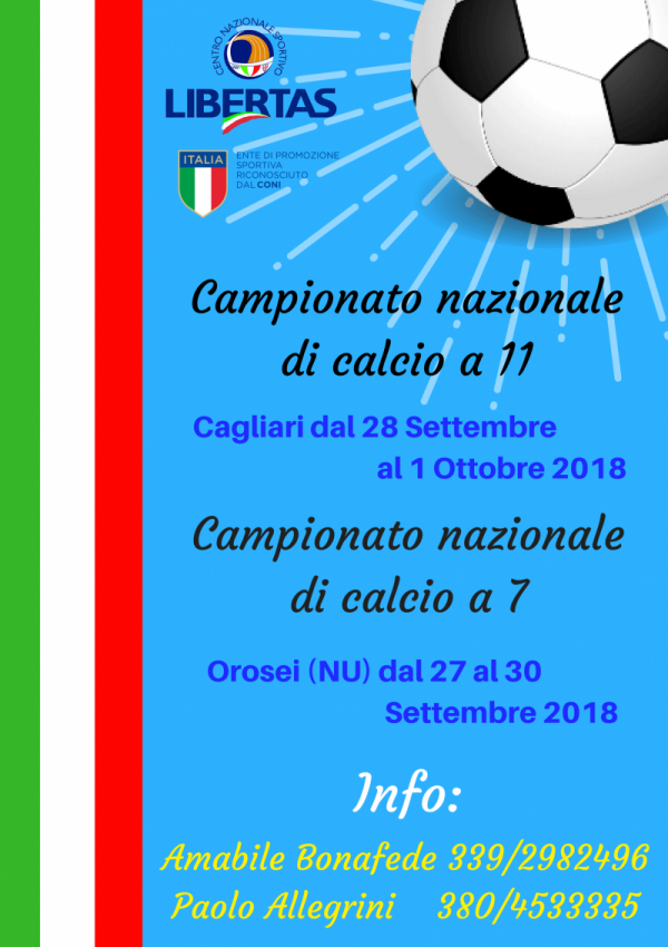 campionato nazionale Libertas calcio a 11